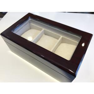 プレゼントに大好評 3本用 木目調 窓付 腕時計 収納 ウォッチ ケース|yuubido-oyabu