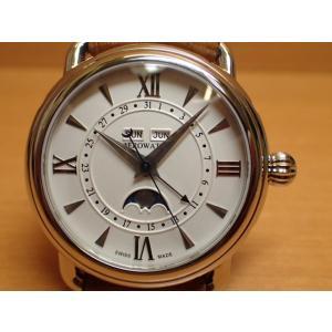 アエロ ウォッチ 1942 ムーンフェイス オートマチック オニオンリューズ 腕時計 AERO WATCH 1942 MOON-PHASES 62902AA05AERO WATCH|yuubido-oyabu