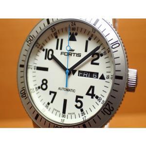 フォルティス 腕時計 フォルティス FORTIS White Marinemaster ホワイト マリンマスター 42mm Ref.647.11.42SI 優美堂分割払いOKです|yuubido-oyabu