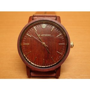アバテルノ AB AETERNO 腕時計 ハーモニーコレクション ウッドウオッチ SOUL レッドサンダルウッド 35mm (正規輸入品) MADE IN ITALY|yuubido-oyabu