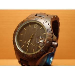 アバテルノ AB AETERNO 腕時計 NATURE COLLECTION ブラックサンダルウッド VOLCANO 9825018 メンズ (正規輸入品)  MADE IN ITALY|yuubido-oyabu