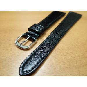 16mm〜 20mm 時計バンド (腕時計) ベルト カンガルー 黒 (ブラック) バネ棒 サービス 腕時計用 時計ベルト 時計用バンド|yuubido-oyabu