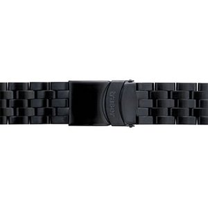 トレーサー Traser 腕時計 純正 クラシッククロノ・ビッグデート専用 メタルブレスレット バンド ベルト バネ棒つき BLACK ブラック(正規輸入品)22mm|yuubido-oyabu