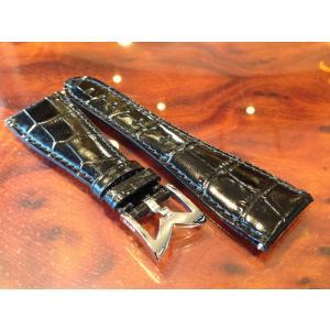 ガガミラノ GaGa MILANO 日本正規品 純正 時計バンド ベルト 48mm メンズ用 レザーベルト ブラック|yuubido-oyabu