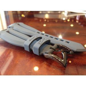 ガガミラノ GaGa MILANO 日本正規品 純正 時計バンド ベルト 48mm メンズ用 ラバー ベルト グレー|yuubido-oyabu