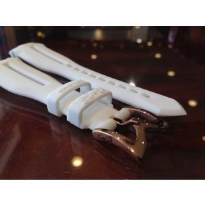 ガガミラノ GaGa MILANO 日本正規品 純正 時計バンド ベルト 48mm メンズ用 ラバーベルト ホワイト|yuubido-oyabu