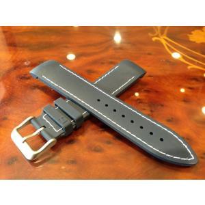 ハミルトン HAMILTON   カーキ GMT エアレース用 ラバー 時計ベルト バンド 純正時計バンド 21mm ネイビー ラバー 紺色 H600776101 yuubido-oyabu