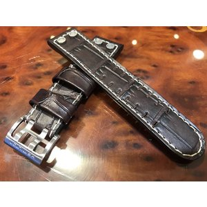 ハミルトン 腕時計 Hamilton カーキBeLOWゼロ用 純正 時計バンド ベルト 22ミリ 濃茶色 yuubido-oyabu