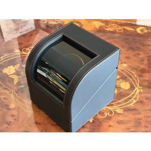 (腕時計王 雑誌掲載) IGIMI ワインディングマシーンオリジナル 一本巻き用 合皮 黒色 ウォッチ ワインダー  自動巻き上げ機|yuubido-oyabu