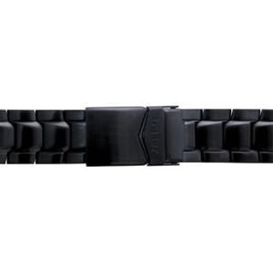 トレーサー Traser 腕時計 純正 P6504シリーズ用メタルブレスレット バンド ベルト バネ棒つき BLACK ブラック(正規輸入品)22mm|yuubido-oyabu