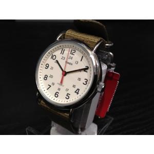 タイメックス TIMEX 腕時計 ウィークエンダー セントラルパーク クリーム×オリーブ T2N651 (正規輸入品)|yuubido-oyabu
