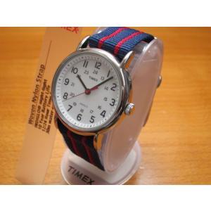 タイメックス TIMEX 腕時計 ウィークエンダー セントラルパーク ホワイト×ネイビー×レッド T2N747 (正規輸入品)|yuubido-oyabu
