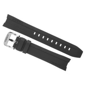 ティソ TISSOT PRC200 T0554171705700 クォーツ 腕時計用 純正 ラバー ベルト バンド 黒色 ブラック 19mm T603032879 写真の腕時計はつきません|yuubido-oyabu