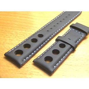 ティソ TISSOT PRS516用 純正時計 牛革 時計バンド 時計ベルト 黒色 ブラック 20mm 腕時計用 時計ベルト 時計用バンド|yuubido-oyabu