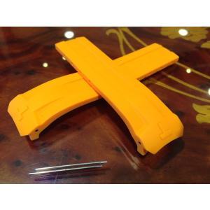ティソ TISSOT T-タッチ エキスパートソーラー 専用 純正ラバーバンド オレンジ色 22mm T610034735 バックルは別売りです|yuubido-oyabu