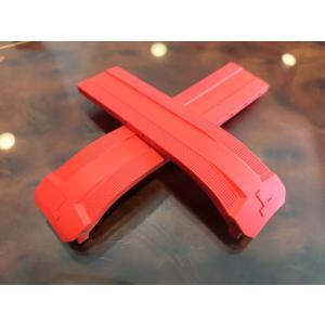 ティソ TISSOT T-タッチ エキスパートソーラー 専用 純正ラバーバンド レッド 赤色 22mm T610036805 バックルは別売りです|yuubido-oyabu