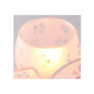 キャンドルホルダー ガラス 和柄/こざくらグラス 「まる」 「かく」|yuukanoshizuku