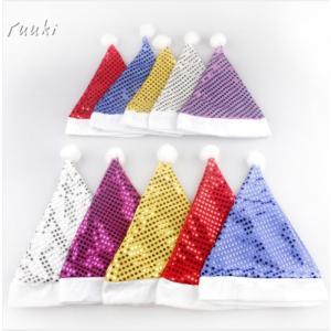 クリスマス 帽子 プレゼント  キッズ サンタ帽子 キラキラ帽子 イベントに大活躍 子供 クリスマスプレゼント 可愛い あったか|yuuki-store