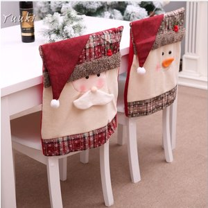 クリスマス 椅子 背もたれ カバー トナカイ お手洗い クリスマス 椅子カバー 椅子カバー チェアカバー 装飾 サンタ 雪だるま 2018新作 飾り|yuuki-store