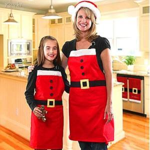 サンタ エプロン 帽子 コスチューム 2点セット クリスマス パーティー イベント コスプレ 衣装 大人対応|yuuki-store