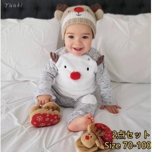 サンタ服 BABY2点セットセット コットンラブリー新生児ベビーセット女の子Tシャツトップス+ロングパンツBABYセット服|yuuki-store