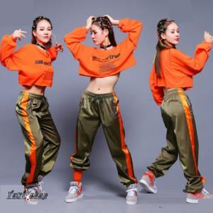 ダンス 衣装 レディース ダンスウェア セットアップ ダンスウエア ジャズ ガールズ トップス ウェア ダンス衣装 ステージウェア dance DS 舞台