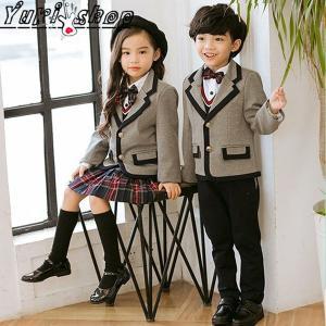 e97e0dec74e05 キッズフォーマル スーツ 子供 上下セット セットアップ スカートスーツ 4点セット韓国子供服 ピアノ 発表会 入学式 卒園式 卒業式 制服 人気