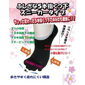 外反母趾・浮き指対策【ふしぎな5本指くつ下 スニーカータイプ】|yuuki29