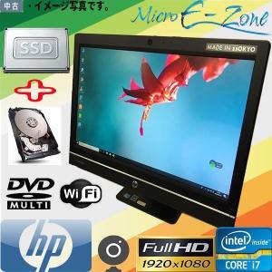 日本製 Windows10 21.5インチ フルHD 一体型 非光沢スクリーン 1920×1080 1,677万色 三世代Core i7 8GB SSD 256GB マルチ 無線LAN付 HP Compaq Pro 6300 AIO yuukou-store