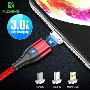送料無料 FLOVEME 3A 磁気 USB ケーブル Iphone マイクロ Usb タイプ C ケーブル高速充電マグネット充電器マイクロ usb yuuuuuu26