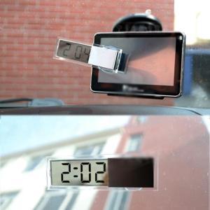 全国送料無料 ミニデジタル Lcd ディスプレイオートカー電子透明時計スケジュール吸盤家庭用自動車内装アクセサリー yuuuuuu26
