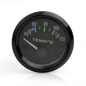 全国送料無料 2 インチ 12 ボルト高感度と簡単操作ユニバーサル車ポインター温度温度ゲージ 40-120 白 LED yuuuuuu26