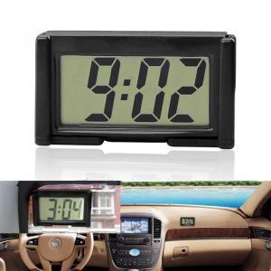 全国送料無料 インテリア車の自動車のダッシュボードデスクデジタル時計 Lcd スクリーン自己粘着ブラケットプラスチック車時計高品質 yuuuuuu26