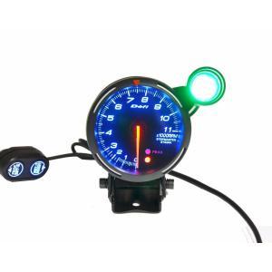 全国送料無料 80 ミリメートル Def Rpm タコメータ 0-11000 rpm でシフトのために 1 8 シリンダー (赤、青、白の led の yuuuuuu26