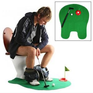 送料無料 面白いトイレ浴室ゴルフ時間ミニゲームプレイパターノベルティギャグギフトマットセットw15|yuuuuuu26