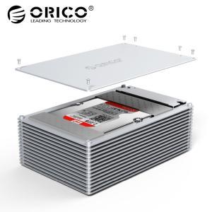 オリコ HDD ケースタイプ C DIY 中空 2.5/3.5 インチハードドライブ合金 12 ボル...