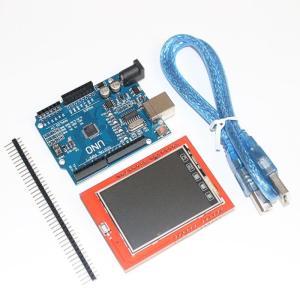 UNOR3 uno r3 mega328p開発ボード+ 2.4インチtftタッチlcdスクリーンモジ...