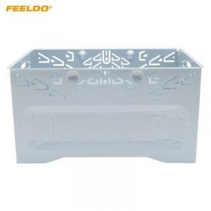 送料無料 FEELDO 1 ピースカーステレオオーディオ再装着顔フレームパネル Iso 2DIN インストール金属ケージ # FD-3588|yuuuuuu26