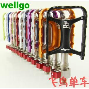 送料無料 オリジナル ブランド wellgo m111 ペダル qrd-m111超軽量クイック リリース bmx mtb ペダル高品質バイク パーツ|yuuuuuu26