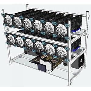 全国送料無料 パソコン ビデオカード 14 グラフィックス カード スロットを持つ PPC 積み重ね可能なマイニング ケース|yuuuuuu26
