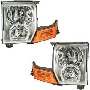 06-10ジープ・コマンダー用ヘッドライトヘッドランプ左右ペアセット Headlights Headlamps Left & Right Pair Set for 06-10 Jeep Commander|yuuuuuu26