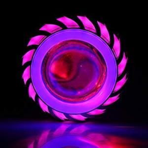 エンジェル&デビルアイ(ブルー&ピンク)とLEDヘッドライトオートバイのヘッドライトBulb-プロジェクターレンズライトランプ電球ハイ/ロービームDC|yuuuuuu26