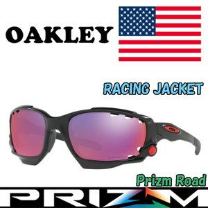 USAモデル オークリー (OAKLEY) サングラス レーシングジャケット RACINGJACKET OO9171-3762 【Matte Black】【Prizm Road】【プリズム】【Standardフィット】|yuuyuusports