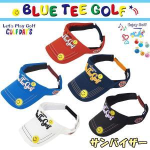 ブルーティーゴルフ BLUE TEE GOLF California コットン バイザー BTG-VS001 スマイル|yuuyuusports