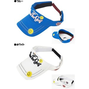 ブルーティーゴルフ BLUE TEE GOLF California コットン バイザー BTG-VS001 スマイル|yuuyuusports|02