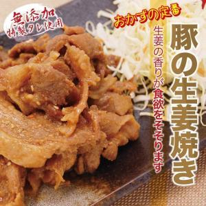 肉 豚肉 惣菜 無添加 豚しょうが焼き 100g×12パック 冷凍 お弁当 真空パック 送料無料|yuuzen-hb