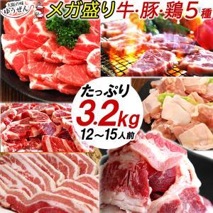 肉 バーベキュー用 セット BBQ 牛肉 豚肉 鶏肉 タレ 合計 2.7kg (牛カルビ 豚肩ロース 豚バラ 鶏もも) 10人前〜15人前 端っこまで美味しい わけあり 食材|yuuzen-hb