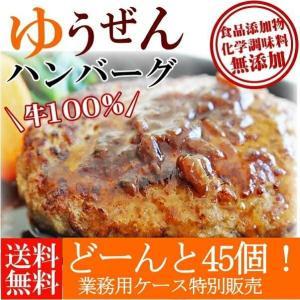 業務用 ケース ハンバーグ 冷凍 肉 牛肉 無添加 牛100% ゆうぜんハンバーグ 150g×45個入 グルメ 食品 まとめ買い|yuuzen-hb