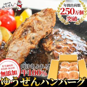 お中元 ギフト ハンバーグ 冷凍 肉 牛肉 無添加 牛100% ゆうぜんハンバーグ 150g×6個入 2個真空×3パック グルメ|yuuzen-hb
