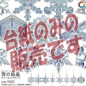 【非売品ディスプレイ台紙】ネイチャーテクニカラーMONO 雪の結晶 チャームストラップ いきもん ガチャポン ガチャガチャ ガシャポン yuyou
